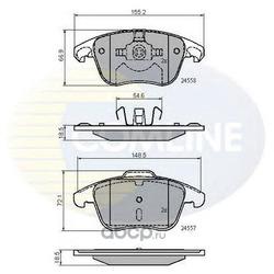 Колодки тормозные, комплект, передние (Comline) CBP01720