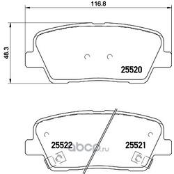 Комплект тормозных колодок, дисковый тормоз (Hella) 8DB355028901