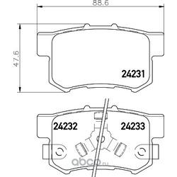 Комплект тормозных колодок, дисковый тормоз (Hella) 8DB355012061