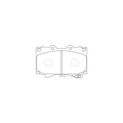 Колодки тормозные дисковые (FIT) FP0772