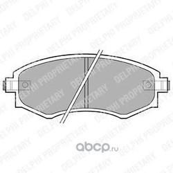 Комплект тормозных колодок, дисковый тормоз (Delphi) LP606