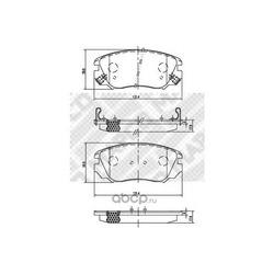 Комплект тормозных колодок, дисковый тормоз (Mapco) 6858