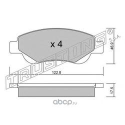 Комплект тормозных колодок, дисковый тормоз (Trusting) 6530