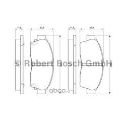 КОЛОДКИ ДИСКОВЫЕ (Bosch) 0986461123