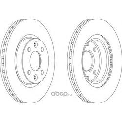 Тормозной диск (Ferodo) DDF1096