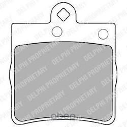 Комплект тормозных колодок, дисковый тормоз (Delphi) LP1403
