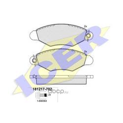 Комплект тормозных колодок, дисковый тормоз (Icer) 181217702