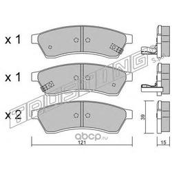 Комплект тормозных колодок, дисковый тормоз (Trusting) 5261