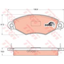 Колодки тормозные передние (TRW/Lucas) GDB1361