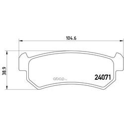 Колодки тормозные дисковые задние, комплект (Brembo) P10001