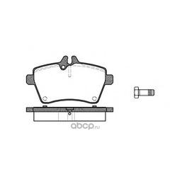 Комплект тормозных колодок, дисковый тормоз (Remsa) 114400