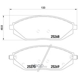 Колодки тормозные дисковые TEXTAR (Textar) 2526801