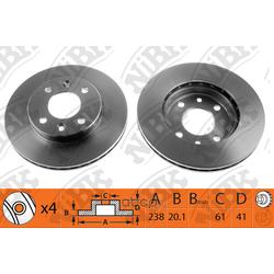 Диск тормозной передний (NiBK) RN1002
