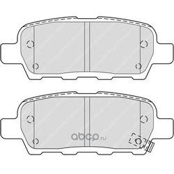 Комплект тормозных колодок, дисковый тормоз (Ferodo) FDB4324