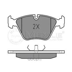 Комплект тормозных колодок, дисковый тормоз (Meyle) 0252096820