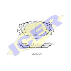 Комплект тормозных колодок, дисковый тормоз (Icer) 181938