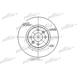 Диск тормозной передний (PATRON) PBD4110