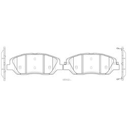 Купить тормозные колодки для Киа Соренто 2014 (Hyundai-KIA) 581012WA70