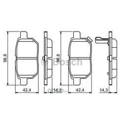Колодки тормозные, комплект, задние (Bosch) 0986494255
