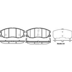 Комплект тормозных колодок, дисковый тормоз (Road house) 2126112