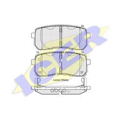 Колодки тормозные дисковые, комплект (Icer) 181839