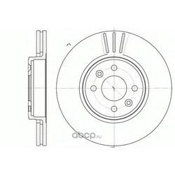 Тормозной диск (Remsa) 658310