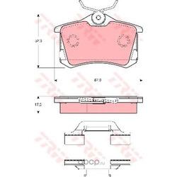 Комплект тормозных колодок, дисковый тормоз (TRW/Lucas) GDB1416