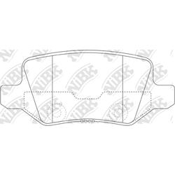 Колодки тормозные дисковые (NiBK) PN0214