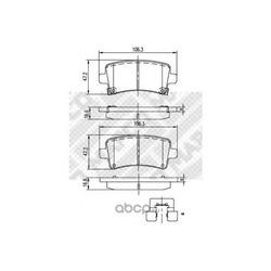 Комплект тормозных колодок, дисковый тормоз (Mapco) 6860