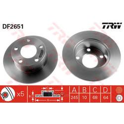 Диск тормозной (TRW/Lucas) DF2651