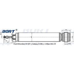 Амортизатор газомасляный задний (BORT) G41548001