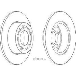Тормозной диск (Ferodo) DDF929C1