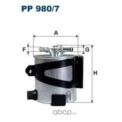 Фильтр топливный Filtron (Filtron) PP9807