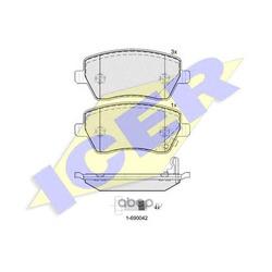 Комплект тормозных колодок, дисковый тормоз (Icer) 181748