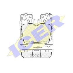 Колодки тормозные дисковые, комплект (Icer) 181936