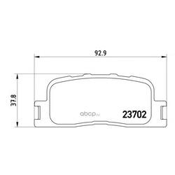 Колодки тормозные дисковые задние, комплект (Brembo) P83088