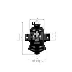 Топливный фильтр (Mahle/Knecht) KL139