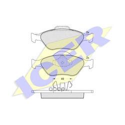 Комплект тормозных колодок, дисковый тормоз (Icer) 181343