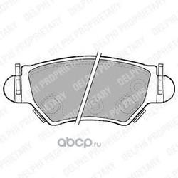 Колодки тормозные дисковые, комплект (Delphi) LP1553