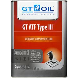 GT ATF Type III, Dexron III (H), 4л (GT OIL) 8809059407615