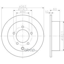 Тормозной диск (Hella) 8DD355119181