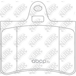 Колодки тормозные дисковые (NiBK) PN0193