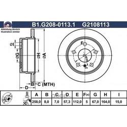 Тормозной диск (GALFER) B1G20801131