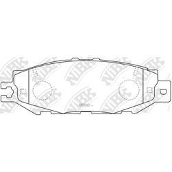 Колодки тормозные дисковые (NiBK) PN1326
