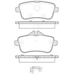 Комплект тормозных колодок, дисковый тормоз (Remsa) 150300