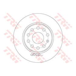 Тормозной диск (TRW/Lucas) DF7911