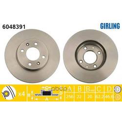 Тормозной диск (Girling) 6048391