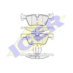 Комплект тормозных колодок, дисковый тормоз (Icer) 182049