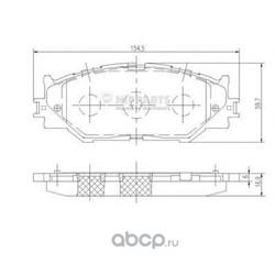Комплект тормозных колодок, дисковый тормоз (Nipparts) N3602128