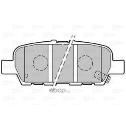 Комплект тормозных колодок, дисковый тормоз (Valeo) 301148
